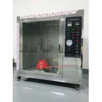 Wholesale IS0 3873 Safety Fire Testing Equipment , Helmet Flammability Test Chamber from china suppliers