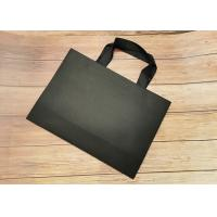 Wholesale Cloth carrying Tote Paper Bag Recyclable SGS,FDA certified with black silk ribbon Handle from china suppliers