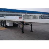 Wholesale Skeleton Flatbed Container Trailer / Aluminum Flatbed Semi Trailer 3 Tire from china suppliers