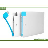 Buy cheap Built In Cable Super Slim Power Bank 2500mah Capacity For Iphone 5V / 1A from wholesalers