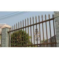 Wholesale Park Villa Fence Multi Shape , Zinc Tubular Steel Decorative Fences For Front Yards from china suppliers