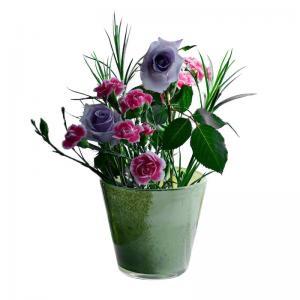 Wholesale Logo Printing 15cm Custom Glass Ceramic Flowerpots from china suppliers