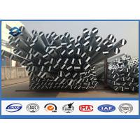 Wholesale Metal Electric Steel power distribution pole , galvanized metal posts 25 years Warrantly from china suppliers