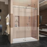 Wholesale Toughened 10mm thickness glass frameless style sliding shower enclosure from china suppliers