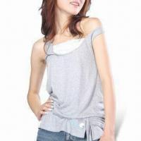 Wholesale Women's Organic Cotton Sleeveless Tee from china suppliers