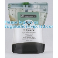 Wholesale doypack Matte Mylar Packaging Bag Black Plastic Aluminum Foil Smell Proof Mylar Coffee Zipper Lock Bags from china suppliers