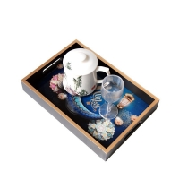 Wholesale FDA Restaurant Square Oil Painting Plate Tableware from china suppliers