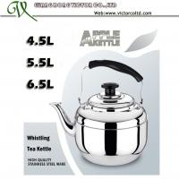 Wholesale Thicker Kettle Stainless steel Apple whistling tea kettle tea pot 4.5L, 5.5L, 6.5L 7.5L from china suppliers