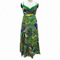 Wholesale Floral pattern ladies' long dress from china suppliers