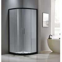 Buy cheap Black aluminium shower enclosure 1000*1000 with two sliding doors and two fixed from wholesalers