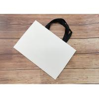 Wholesale Cardboard Paper Shopping Bag Eco-friendly Strong sealing bottom SGS,FDA ceritified with black silk ribbon Handle from china suppliers