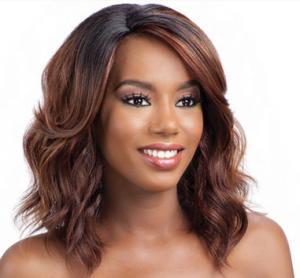 Wholesale Deep Wave Spiky Hair Wig , Kanekalon Fiber Full Head Wigs Human Hair from china suppliers