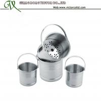 Wholesale Small stainless steel ice cube bucket with steamer S/S 410 from china suppliers
