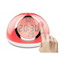 China Multicolor LED Touch Light Alarm Clock 2000MA Battery Capacity For Bedroom on sale