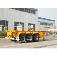 China 40ft 3 axles trailer chassis 40tons capacity 40ft shipping container trailer on sale