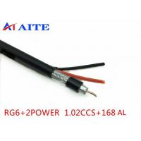 Wholesale 168AL Braid RG6 Siamese Coax Cable 1.02mm BC 4.7mm FPE 18AWG CCA Power Wire from china suppliers