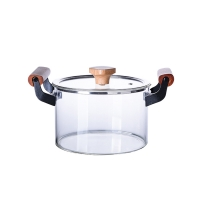 Wholesale Double Ears 3L Clear High Borosilicate Glass Soup Pot from china suppliers