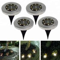 Wholesale Yellow Solar Powered LED Ground Lights / Solar Powered Walkway Lights from china suppliers