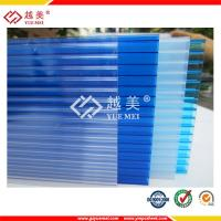 China 4mm twin wall polycarbonate sheet transparent coloured plastic sheets on sale