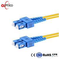 Wholesale Duplex Fiber Optic Patch Cord Leads SC UPC To SC UPC Single Mode Fiber Optic Patch Cable from china suppliers
