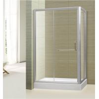 Buy cheap tempered glass frameless straight corner shower door,shower booth,shower room from wholesalers