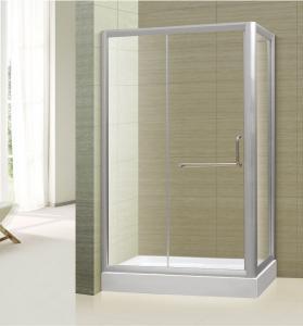 Buy cheap tempered glass frameless straight corner shower door,shower booth,shower room furniture from wholesalers