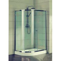 China Compact D Shaped Quadrant Shower Enclosures 4 Ft Small Corner Shower Stalls on sale