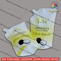 Wholesale PE/PET side spout pouch packaging with bottom gusset,liquid bag from china suppliers
