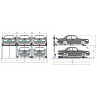 China 380V Automated Car Parking Garage , Garage Car Lift System Stainless Steel on sale