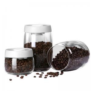 Wholesale Hand Pressed Vacuum Borosilicate Glass Storage Jars 585ml from china suppliers