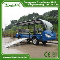 Buy cheap 8 Seater Electric Shuttle Bus With 12*6v Trojan Battery Steel Alloy Frame from wholesalers