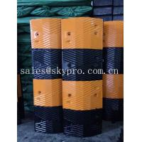China Reflective rubber speed hump Molded Rubber Products road speed ramp on sale