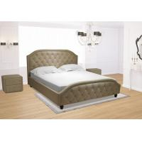 China Euro Platform Bed with Side Rails and Soft Upholstered Exterior, White Finish, King on sale