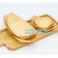 """Wholesale Finger Food - Bowls, """"Boat"""" Biodegradable Wood Promotion - Party Wedding Supplies, 130mm Disposable Sushi/Salad/Dessert from china suppliers"""