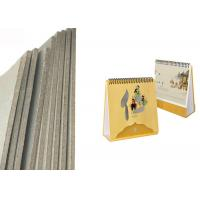 China Thickness laminated 3.4mm 2150gsm grey cardboard for desk calendar on sale