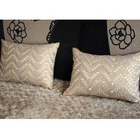 Wholesale 100% Cotton Luxury Throw Pillows , Leaves Pattern Embroidered Cushion Covers from china suppliers