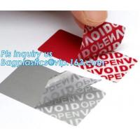 Wholesale VOID Material Warranty Void Non Removable Labels,Tamper Evident Honeycomb Holographic Warranty OPEN Void Security Label, from china suppliers