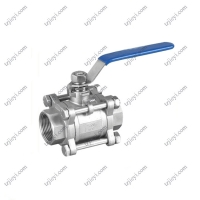 Wholesale Thread Connection Pieces Stainless Steel 3 Piece Type Water Ball Valve from china suppliers