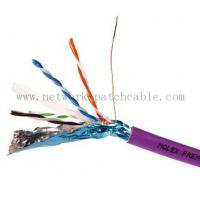 China RoHS CE ISO Cat6 FTP Cable Copper Cat 6 Plenum Rated Cable Waterproof on sale