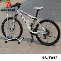 Wholesale Portable Bicycle Parking Accessories Vertical Bike Repair Stand Steel Black Cycle Rack from china suppliers