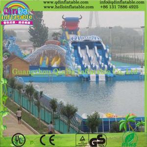 China Square Above Ground Pool Rectangular Metal Frame Swimming Pool on sale