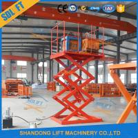 Buy cheap Safe 1.5T 3.5M Stationary Hydraulic Scissor Lift Hydraulic Warehouse Scissor from wholesalers