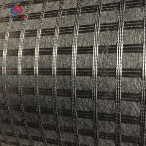 Wholesale 50 Kn - 100 Kn Asphalt Reinforcement Geogrid Biaxial Fiberglass Bitumen Coated from china suppliers