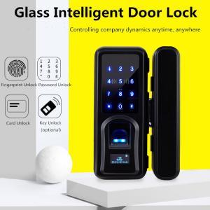 Buy cheap Zinc Alloy Glass Door Lock , Automatic Intelligent Fingerprint Recognition Lock from wholesalers