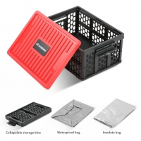 Wholesale Multifunction Rectangle Collapsible Crate Plastic Storage Baskets With Lid from china suppliers