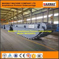 Wholesale Amphibious Pontoon Undercarriage for PC200 PC210 PC220 Amphibious Excavator , Model: MAX200PU from china suppliers