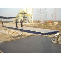 Buy cheap 3 X18m 80t CE approved Q235 Steel Mobile Truck Weigh Scales used for truck from wholesalers