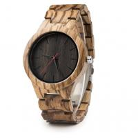 Buy cheap Fashionable Japanese Quartz Wrist Watch / Big Dial Natural Wood Watches from wholesalers