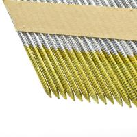 Buy cheap Collated Framing Nails Flat / Checkered Head Paper Strip Nails For Building from wholesalers