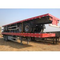 China SINO HOWO 40ft 20ft Container Trailer , Flatbed Semi Trailer For Transportation on sale